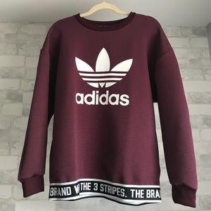 adidas Other - Maroon Adidas Sweatshirt 329ef2ddfa2e